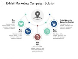 E Mail Marketing Campaign Solution Ppt Powerpoint Presentation Gallery Inspiration