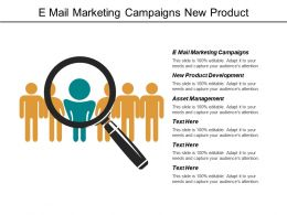 E Mail Marketing Campaigns New Product Development Asset Management Cpb
