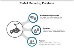 E Mail Marketing Database Ppt Powerpoint Presentation Gallery Show Cpb
