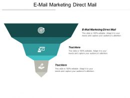 E Mail Marketing Direct Mail Ppt Powerpoint Presentation Ideas Shapes Cpb