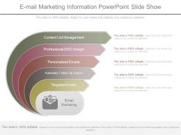 E Mail Marketing Information Powerpoint Slide Show
