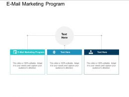 E Mail Marketing Program Ppt Powerpoint Presentation Outline Pictures Cpb