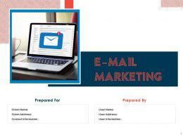E Mail Marketing Proposal Powerpoint Presentation Slides