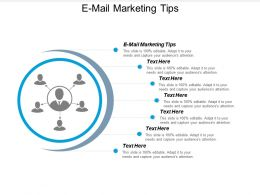 E Mail Marketing Tips Ppt Powerpoint Presentation Pictures Show Cpb