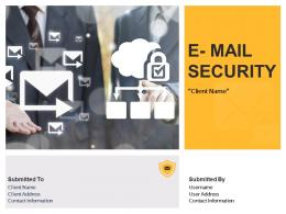 E Mail Security Proposal Powerpoint Presentation Slides