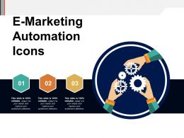 E Marketing Automation Icons Powerpoint Slide Graphics