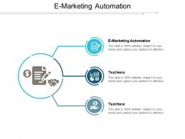 E Marketing Automation Ppt Powerpoint Presentation File Icons Cpb
