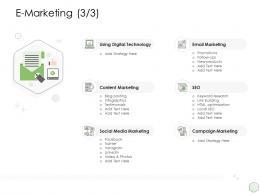 E Marketing Digital Ppt Powerpoint Digital Technology Presentation Pictures