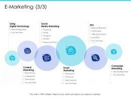 E Marketing Html Optimization Ppt Powerpoint Presentation Show Infographic Template
