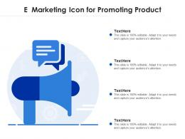 E Marketing Icon For Promoting Product