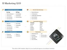 E Marketing Optimization Online Trade Management Ppt Information