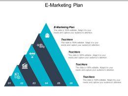 E Marketing Plan Ppt Powerpoint Presentation Gallery Graphics Tutorials Cpb