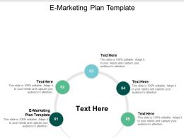 E Marketing Plan Template Ppt Powerpoint Presentation Summary Background Cpb