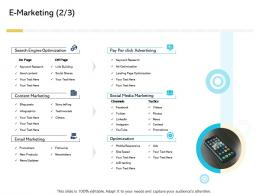 E Marketing Posts Digital Business And Ecommerce Management Ppt Icon Image