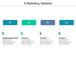 E Marketing Statistics Ppt Powerpoint Presentation Gallery Templates Cpb