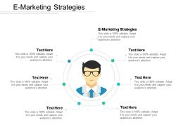E Marketing Strategies Ppt Powerpoint Presentation Gallery Guide Cpb
