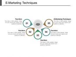 E Marketing Techniques Ppt Powerpoint Presentation Pictures Templates Cpb