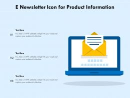E Newsletter Icon For Product Information