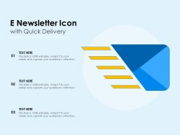 E Newsletter Icon With Quick Delivery