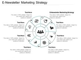 E Newsletter Marketing Strategy Ppt Powerpoint Presentation Gallery Introduction Cpb