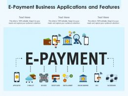 E Payment Business Applications And Features
