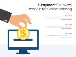 E Payment Gateway Process For Online Banking