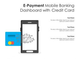 E Payment Mobile Banking Dashboard With Credit Card