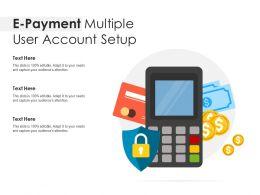 E Payment Multiple User Account Setup