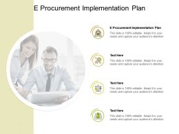 E Procurement Implementation Plan Ppt Powerpoint Presentation Summary Examples Cpb