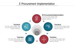 E Procurement Implementation Ppt Powerpoint Presentation Slides Display Cpb