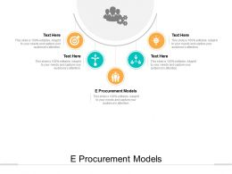 E Procurement Models Ppt Powerpoint Presentation Show Slide Download Cpb
