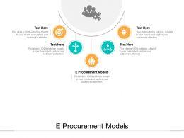 E Procurement Models Ppt Powerpoint Presentation Show Slide Download Cpb