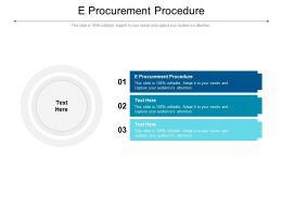 E Procurement Procedure Ppt Powerpoint Presentation Show Graphics Design Cpb
