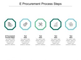 E Procurement Process Steps Ppt Powerpoint Presentation Layouts Gallery Cpb