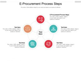 E Procurement Process Steps Ppt Powerpoint Presentation Slides Styles Cpb
