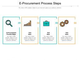 E Procurement Process Steps Ppt Powerpoint Presentation Styles Graphics Cpb