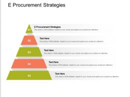 E Procurement Strategies Ppt Powerpoint Presentation Styles Designs Download Cpb