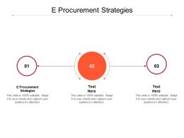 E Procurement Strategies Ppt Powerpoint Presentation Summary Templates Cpb