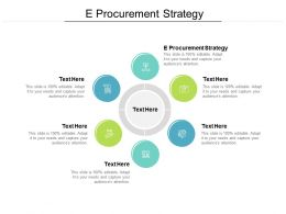E Procurement Strategy Ppt Powerpoint Presentation Model Visuals Cpb