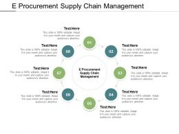 E Procurement Supply Chain Management Ppt Powerpoint Presentation Background Designs Cpb