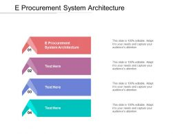 E Procurement System Architecture Ppt Powerpoint Presentation Gallery Tips Cpb