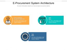 E Procurement System Architecture Ppt Powerpoint Presentation Infographic Template Cpb