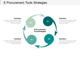 E Procurement Tools Strategies Ppt Powerpoint Presentation Ideas Clipart Images Cpb