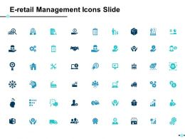 E Retail Management Icons Slide Ppt Powerpoint Presentation File Infographics