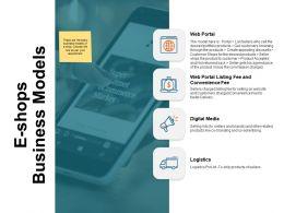 E Shops Business Models Digital Media Ppt Powerpoint Presentation Inspiration Aids