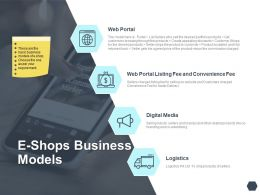 E Shops Business Models Logistics Ppt Powerpoint Presentation Gallery Brochure