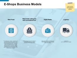 E Shops Business Models Logistics Ppt Powerpoint Presentation Template Clipart