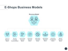 E Shops Business Models Revenue Ppt Powerpoint Presentation Template Infographic