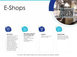 E Shops Convenience Fee Ppt Powerpoint Presentation Model Files