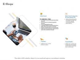 E Shops Online Trade Management Ppt Microsoft
